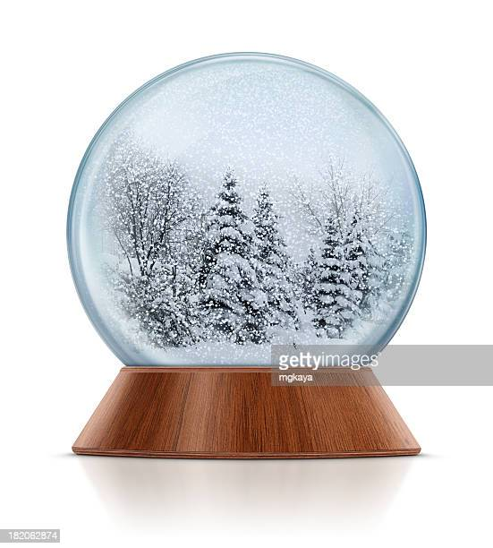 Winter Scene in Snow Globe