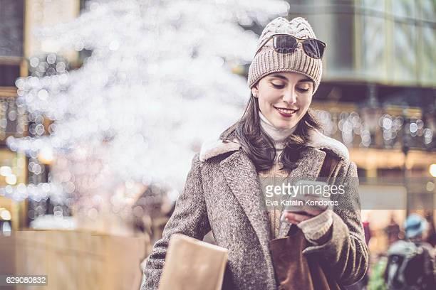 shopping en hiver