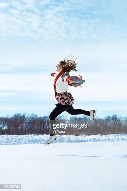 Inverno all'aperto Pattinaggio di mettere Pista di pattinaggio sul ghiaccio