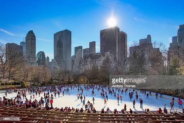 Winter skating in central park