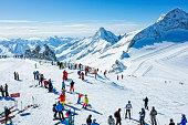 Winter ski resort Hintertux, Tirol, Austria