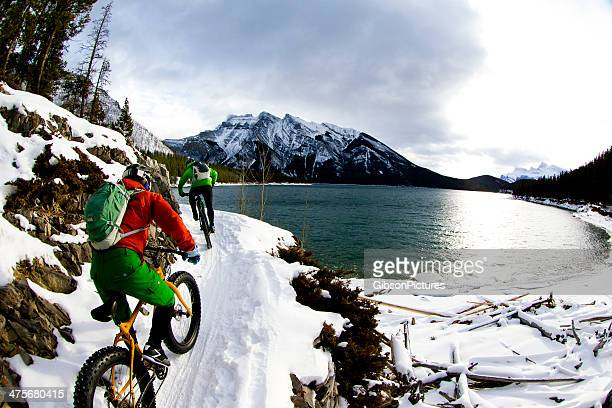 Winter Snow Biking