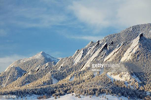 Winter Snow on the Boulder Colorado Flatirons