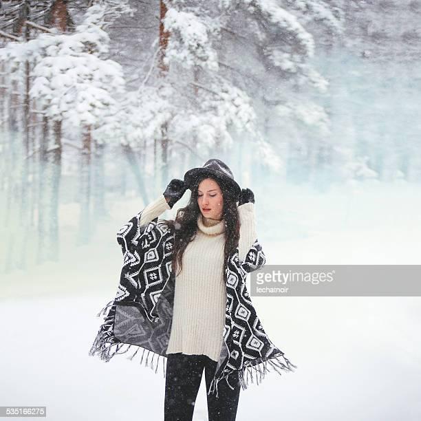 Winter, Schnee, Porträt