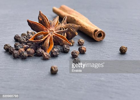 winter spices : Stock Photo