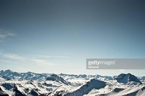 Wintersport Ski Snowboard Piste Kitzbühel Bergpanorama