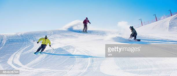 Winter sports in high mountain
