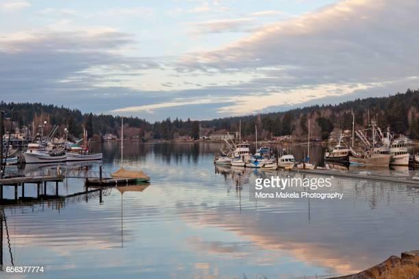 Winter sunset in Gig Harbor, Washington