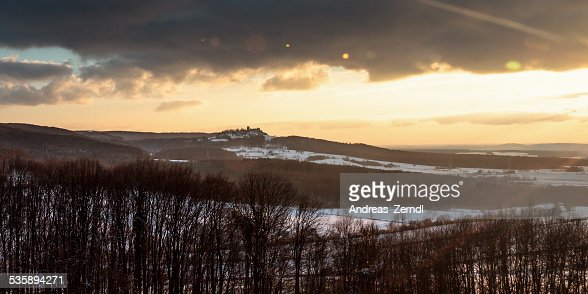 Winter Sonnenuntergang Landschaft : Stock-Foto