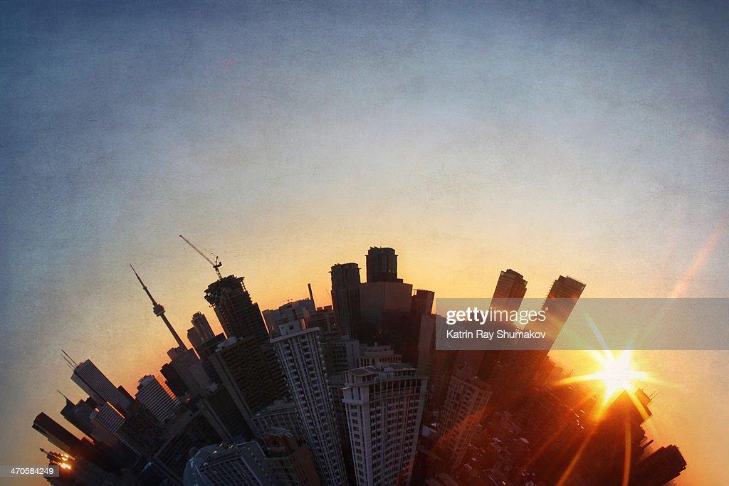 Winter Sunset Magic on Toronto Planet : Photo