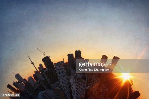 Winter Sunset Magic on Toronto Planet