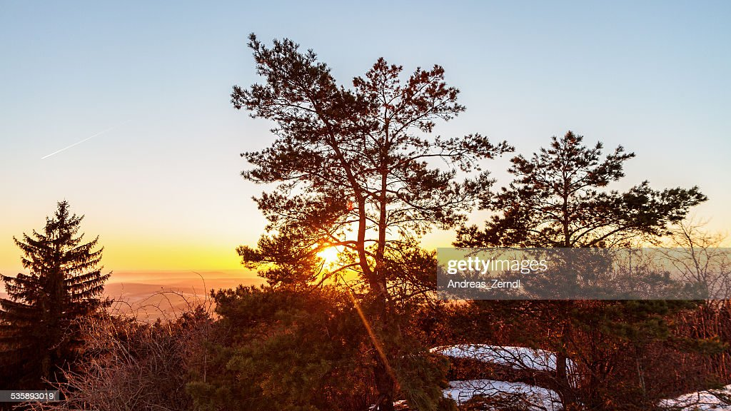 Winter Sunset : Stockfoto
