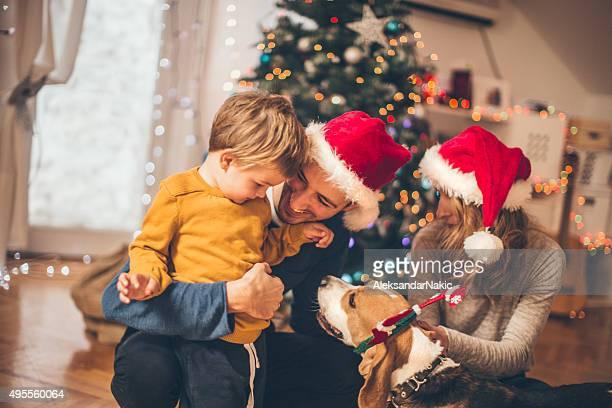 Winter Zeit und Familien