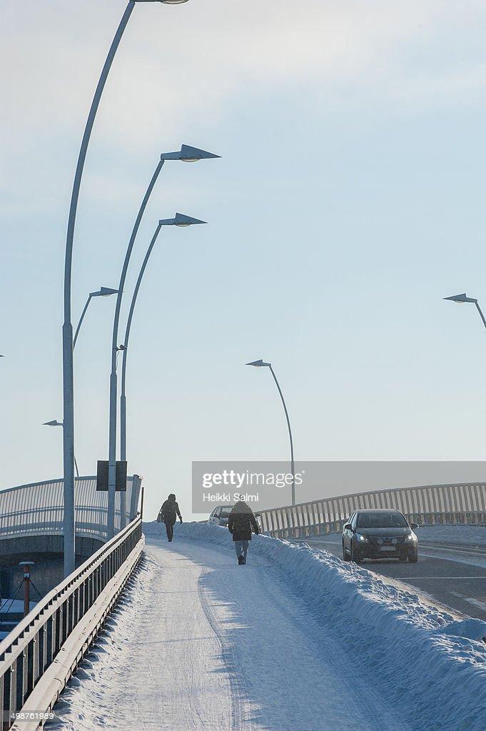 Winter traffic : Stock Photo