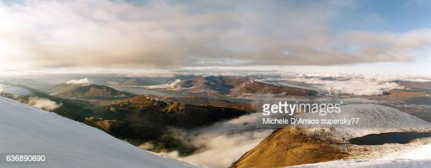 Winter view from the summit of Ben Nevis