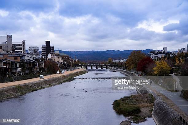 Winter view of Kamo River