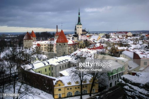 Winter view of Tallinn, Estonia
