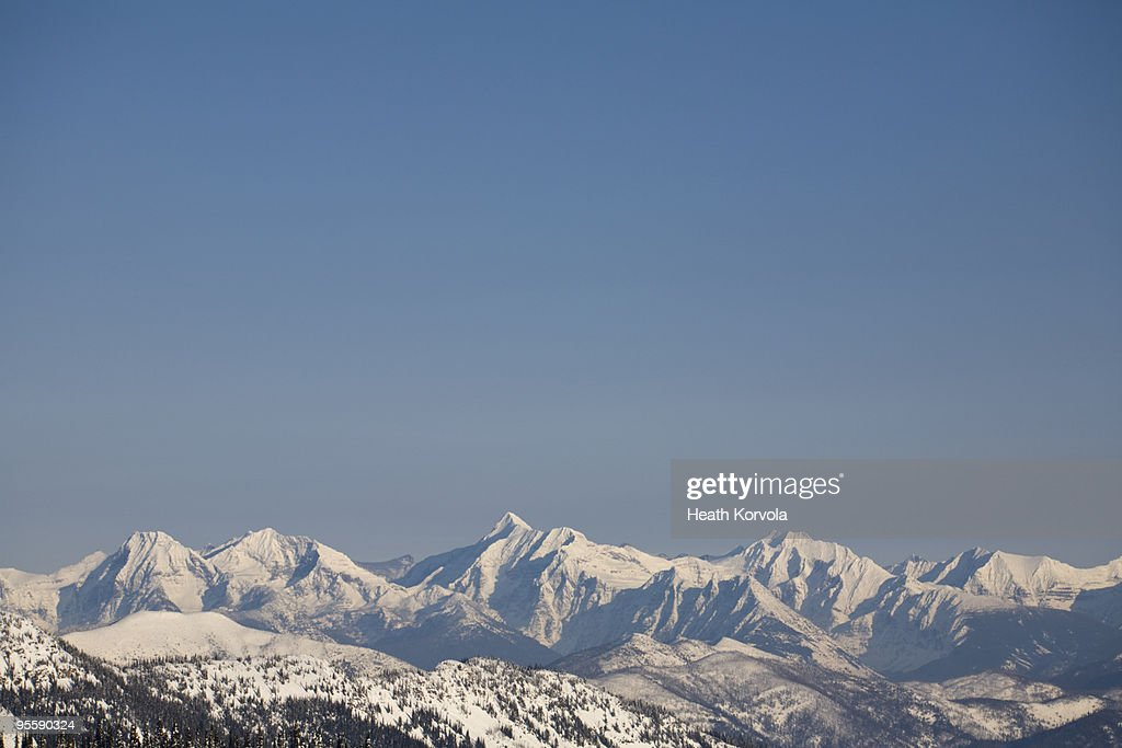 Winter view of US Continental Divide. : Stock Photo