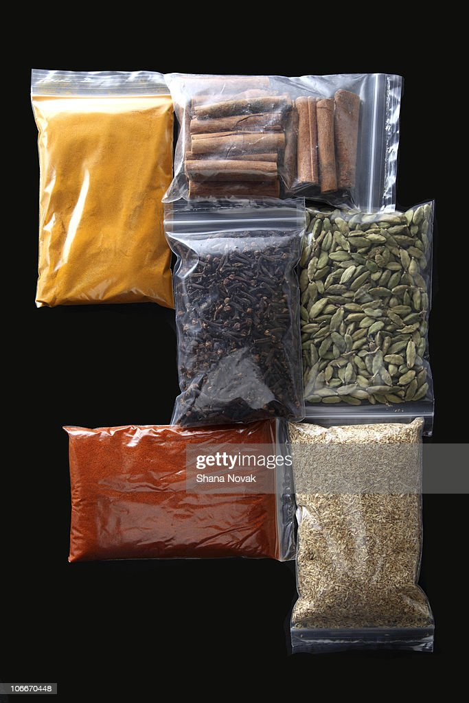 Winter Warming Spices in fresh seal packages