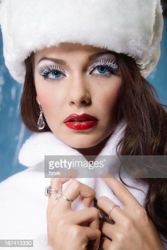 Inverno donna : Foto stock