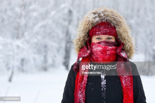 Winter woman portrait
