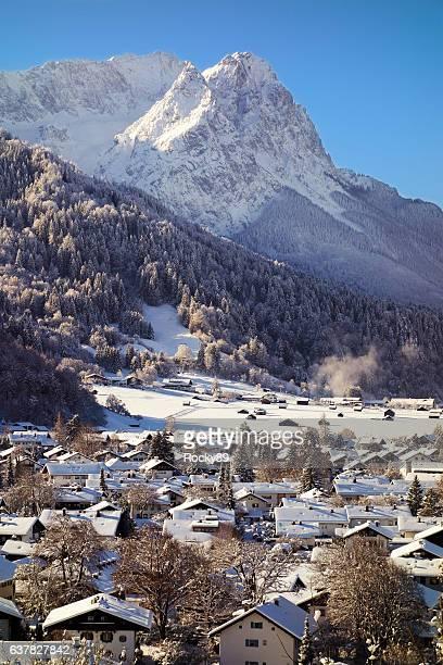 Winter Wonderland Garmisch-Partenkirchen with Mountain Zugspitze
