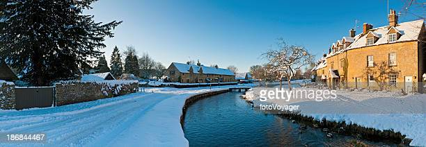 Winter wonderland quaint snowy village homes