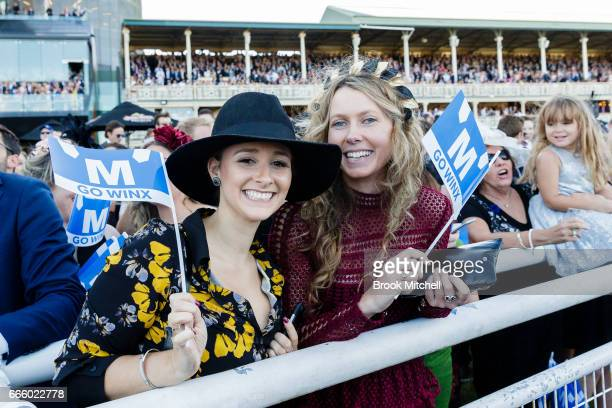 Winx fans during The Championships Day 2 Queen Elizabeth Stakes Day at Royal Randwick Racecourse on April 8 2017 in Sydney Australia