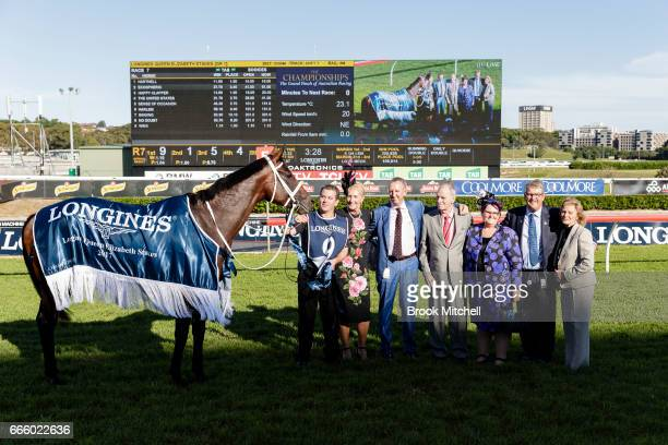 Connectiuons of Winx after the horse's win in the Queen Elizabeth Stakes at Royal Randwick Racecourse on April 8 2017 in Sydney Australia