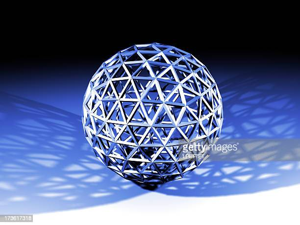 wire blue ball