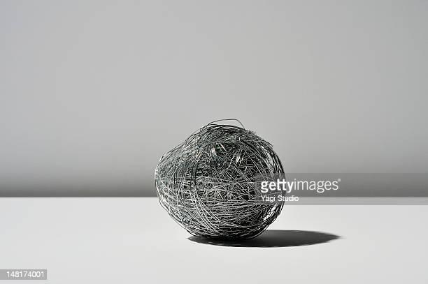 Wire on white background