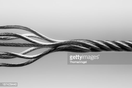 Wire rope. SteelTwisted Connection Cable Abstract Strength Concept