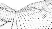 Wireframe - a skeletal three-dimensional model in which only lines and vertices are represented 3d illustration