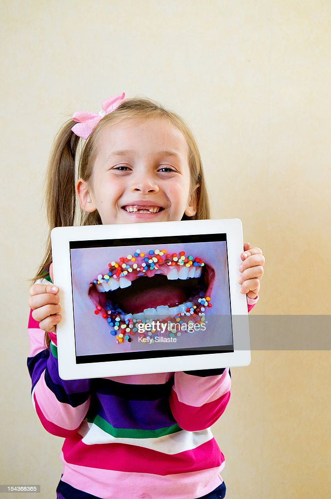 Wireless Gap-Toothed Smile : Stock Photo