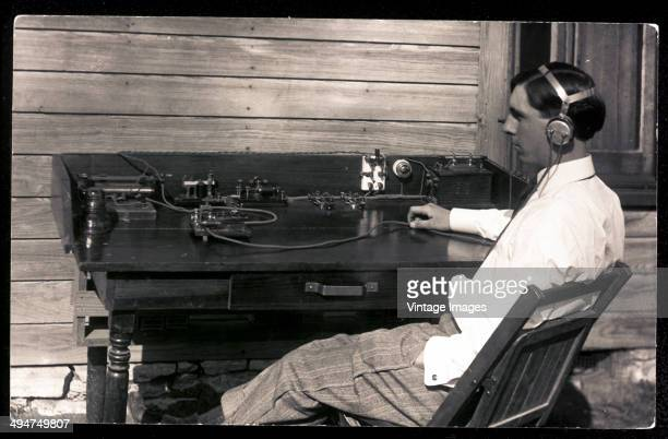 A wireless operator circa 1920
