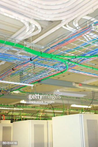 Server Room Wiring : Wiring in computer server room stock photo getty images