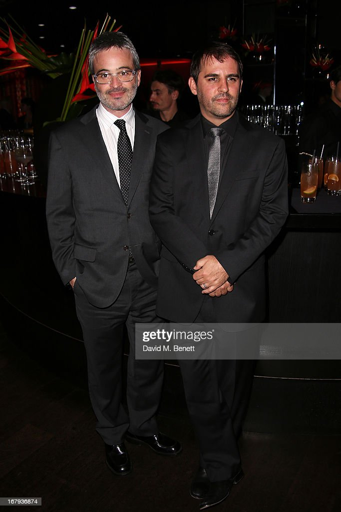 Wiriters Alex Kurtzman and Roberto Orci attend the UK Premiere - After Party of 'Star Trek Into Darkness' at Aqua on May 2, 2013 in London, England.