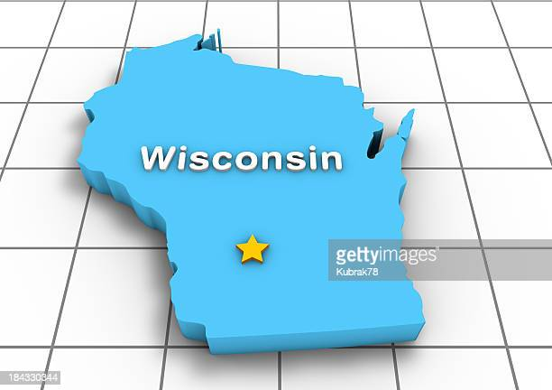Wisconsin 3D State Map