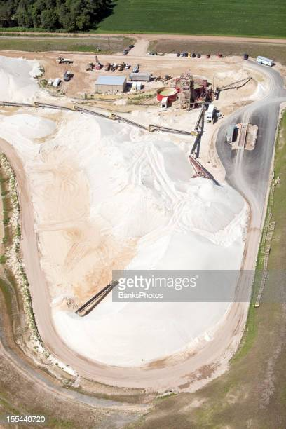 Wisconsin Frac Sand Mine Piles Aerial View
