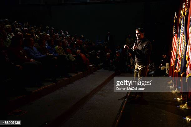 Wisconsin Governor Scott Walker speaks during a grassroots training and rally event at Concord High School March 14 2015 in Concord New Hampshire...