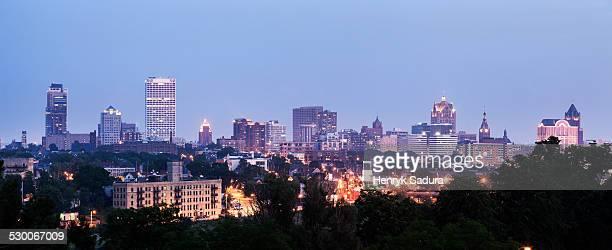 USA, Wisconsin, Milwaukee, Panorama of city