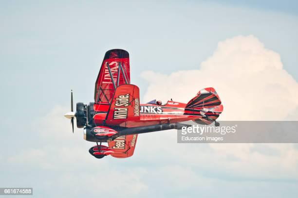 Wisconsin Oshkosh AirVenture 2016 John Klatt flying Jack's Links jet Waco biplane