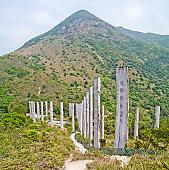 Wisdom Path and Lantau Peak in Hong Kong