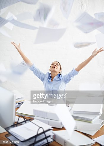 I wish I could be free of all this paperwork!