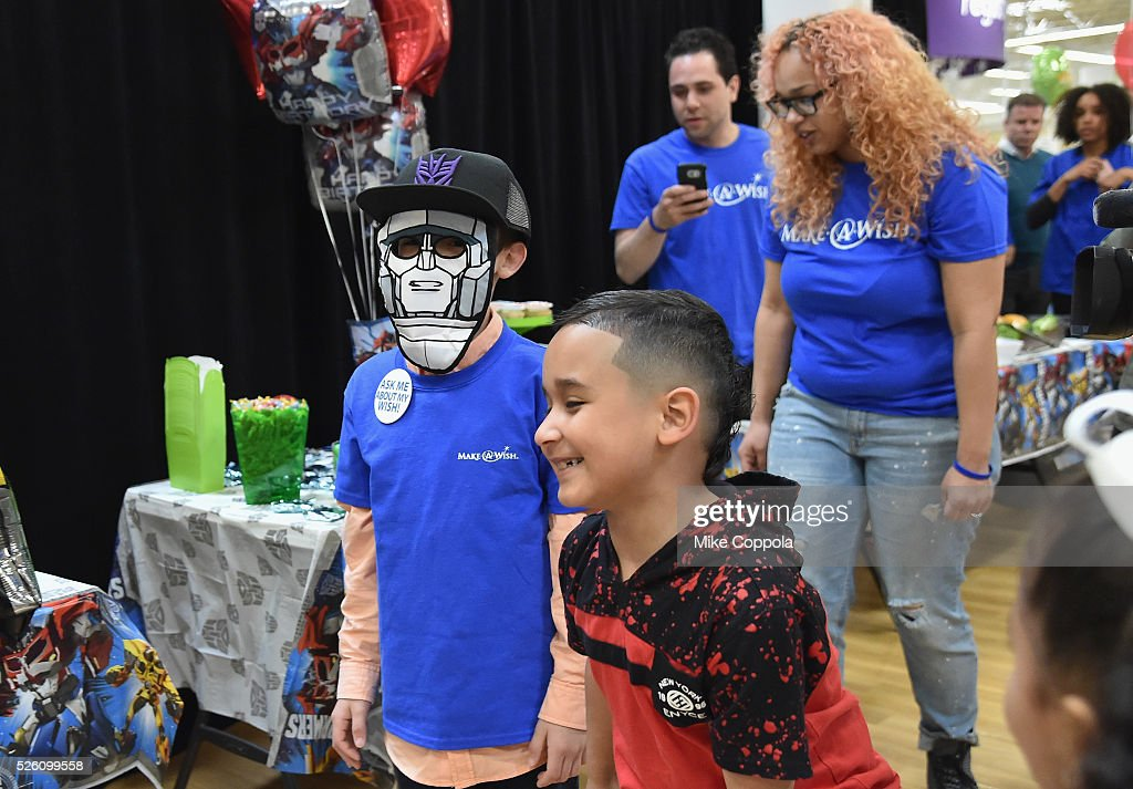 Wish Kid Jeiden enjoys the ultimate birthday celebration from ToysRUs on World Wish Day at a ToysRUs on April 29, 2016 in Secaucus, New Jersey.