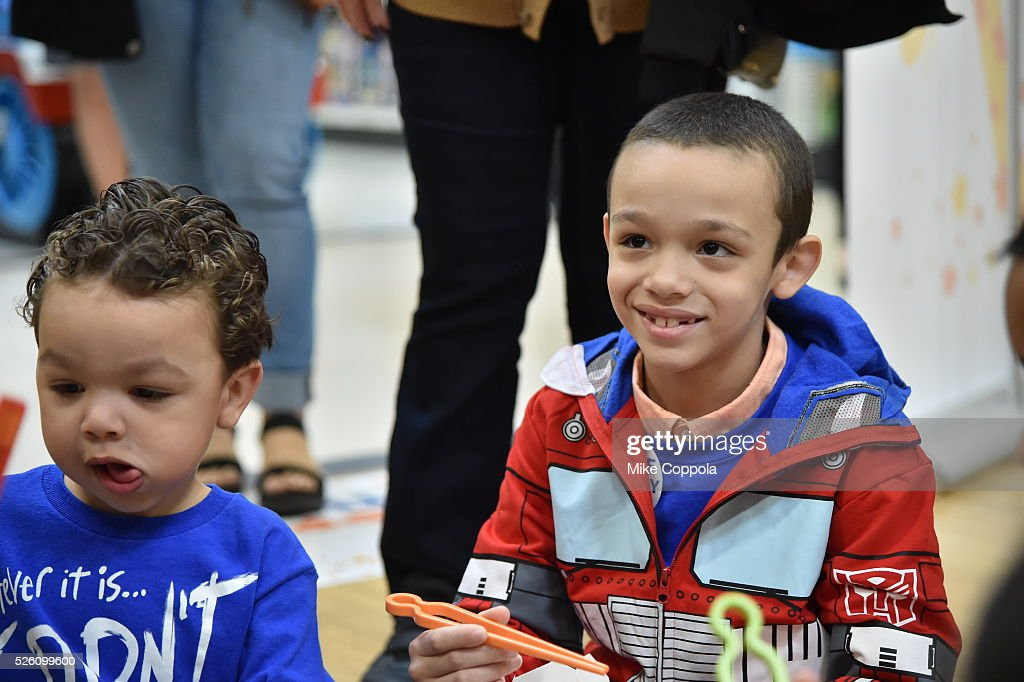 Wish Kid Jeiden enjoys the ultimate birthday celebration from Toys?R?Us on World Wish Day at a Toys?R?Us on April 29, 2016 in Secaucus, New Jersey.