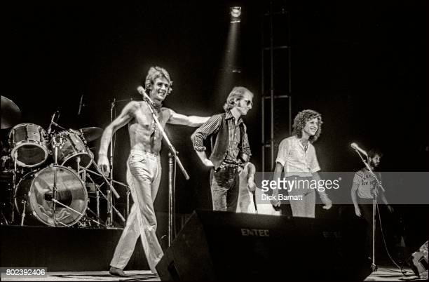 Wishbone Ash performing on stage at Hammersmith Odeon London November 1976