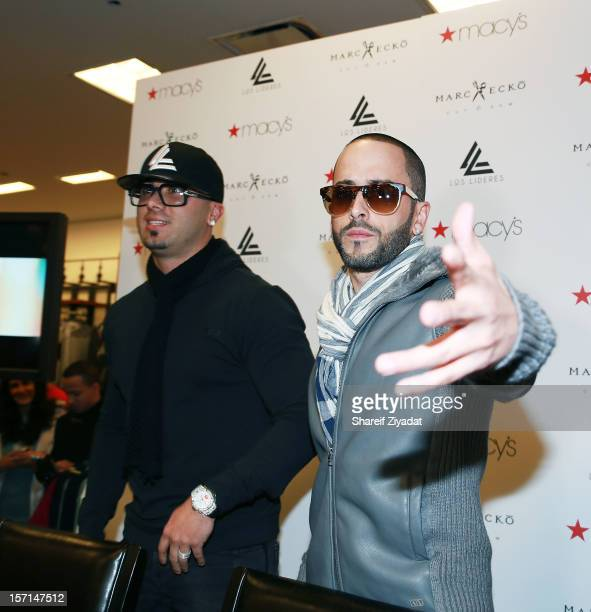 Wisin and Yandel visits at Macy's Herald Square on November 28 2012 in New York City