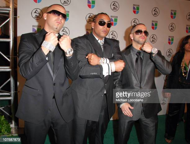 Wisin and Yandel with Don Omar during The 7th Annual Latin GRAMMY Awards Arrivals at Madison Square Garden in New York City New York United States