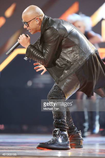 Wisin performs onstage during the 14th Annual Latin GRAMMY Awards held at Mandalay Bay Resort and Casino on November 21 2013 in Las Vegas Nevada